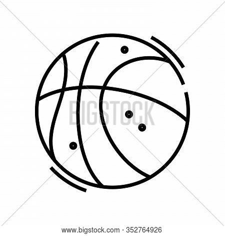 Basketball Line Icon, Concept Sign, Outline Vector Illustration, Linear Symbol.