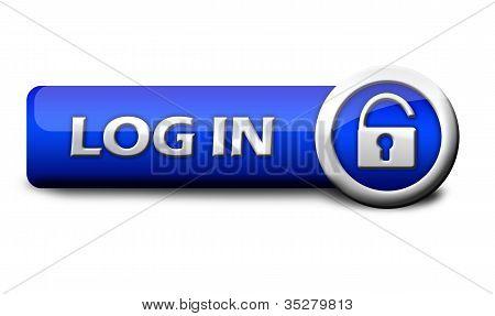 Blue button log in