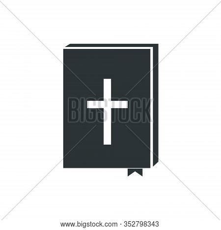 Black Bible Icon, Holy Scripture - Vector Illustration