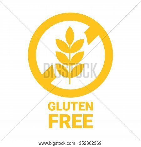 Gluten Free Icon. Isolated No Grain Symbol. Vector