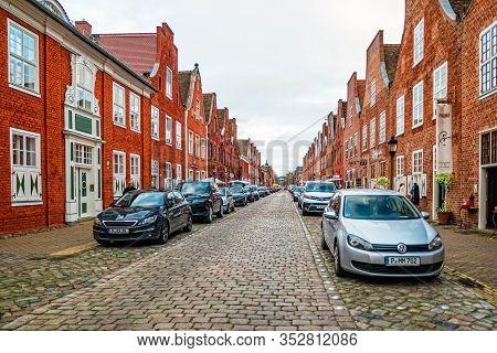 Street In The Dutch Quarter In Potsdam, Germany.