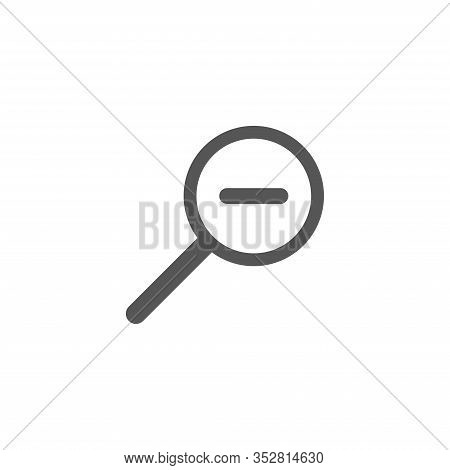 Magnifyingmagnifying Vector Icon. Search Icon Vector Isolated On White Background. Zoom Icon. In Ful