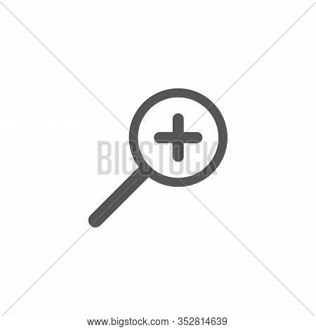 Magnifying Vector Icon. Search Icon Vector Isolated On White Background. Zoom Icon. In Full Screen I