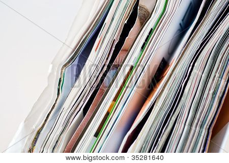 crumpled magazines
