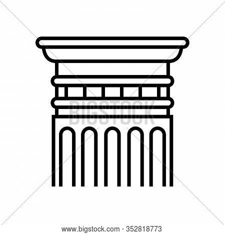 Doric Order Line Icon, Concept Sign, Outline Vector Illustration, Linear Symbol.