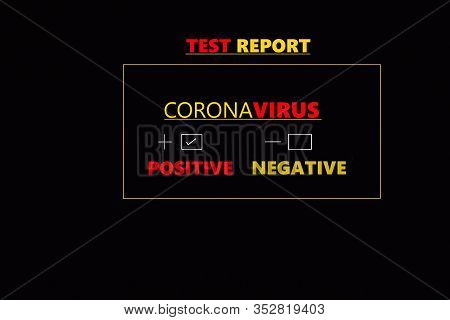 Abstract background of coronavirus, coronavirus positive medical blood test report result, China Chinese healthcare, Wuhan China coronavirus outbreak, 2019-ncov, novel epidemic coronavirus, concept, China Chinese health care, medical concept
