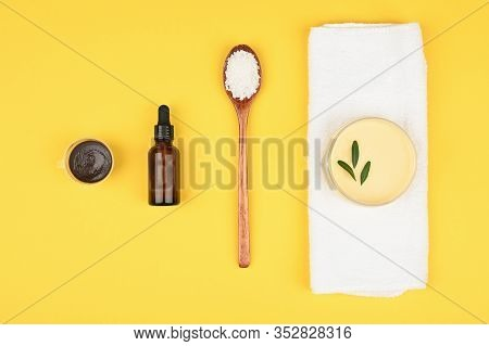 Spa Amenities. Protect Clean And Soft Skin. Daily Cosmetic Product. Close Empty Space For Text Or Lo