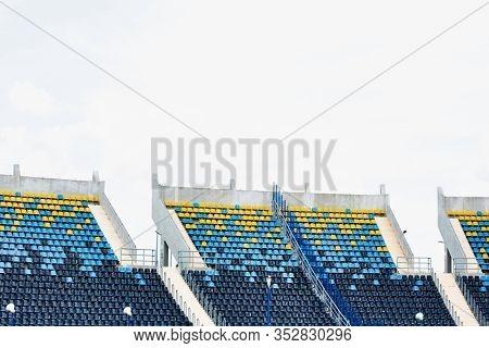 Photo of olympic stadium seats