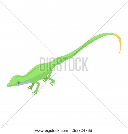Small Lizard Icon. Isometric Of Small Lizard Vector Icon For Web Design Isolated On White Background