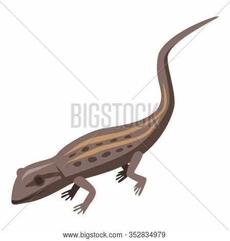Brown Lizard Icon. Isometric Of Brown Lizard Vector Icon For Web Design Isolated On White Background