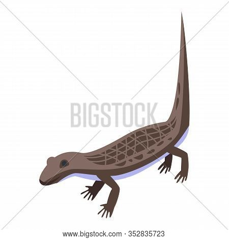 Tree Reptile Icon. Isometric Of Tree Reptile Vector Icon For Web Design Isolated On White Background