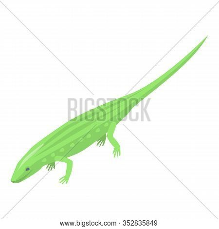 Green Reptile Icon. Isometric Of Green Reptile Vector Icon For Web Design Isolated On White Backgrou