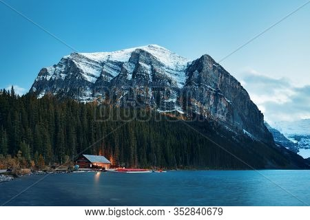 Lake Louise in Banff National Park Canada