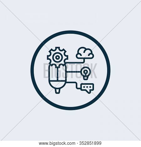Logic Icon Symbol. Creative Sign From Science Icons Collection. Filled Flat Logic Icon For Computer