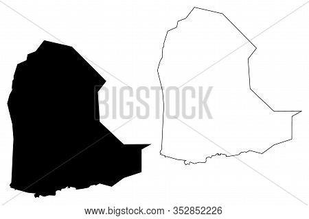 Dikhil Region (republic Of Djibouti, Horn Of Africa, Gulf Of Aden) Map Vector Illustration, Scribble