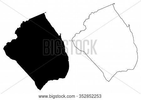 Obock Region (republic Of Djibouti, Horn Of Africa, Gulf Of Aden) Map Vector Illustration, Scribble