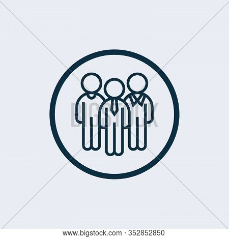 Community Icon Isolated On White Background From Friendship Collection. Community Icon Trendy And Mo