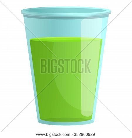 Juice Glass Celery Icon. Cartoon Of Juice Glass Celery Vector Icon For Web Design Isolated On White