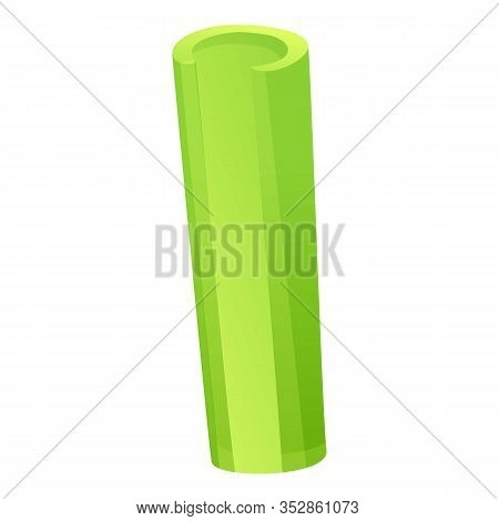 Celery Tube Icon. Cartoon Of Celery Tube Vector Icon For Web Design Isolated On White Background