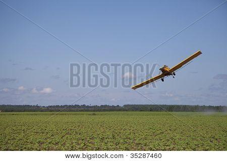 Angled Crop Dusting Plane