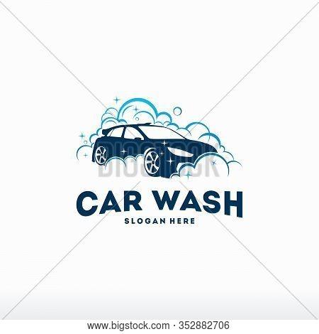 Car Wash Logo Vintage Sticker Vector Illustration