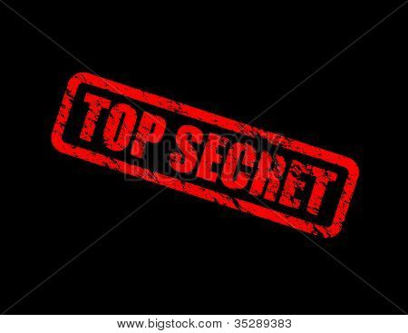 poster of a red and black top secret background