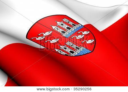 Flag Of Zwickau, Germany.