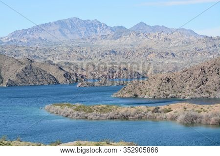 Beautiful View Of Lake Mohave On The Arizona Nevada Border, In The Lake Mead National Recreation Are