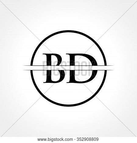 Initial Black Letter Bd Logo With Creative Circle Typography Vector Template. Creative Abstract Lett