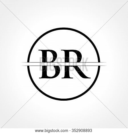 Initial Black Letter Br Logo With Creative Circle Typography Vector Template. Creative Abstract Lett