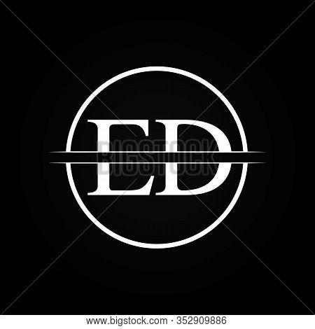 Initial Ed Letter Linked Logo Business Vector Template. Creative Letter Ed Logo Design