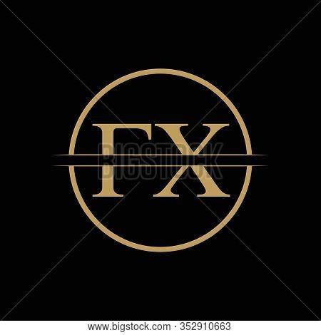 Fx Letter Type Logo Design Vector Template. Abstract Letter Fx Logo Design