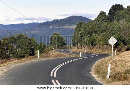 Winding Country Road