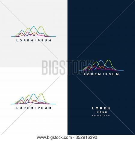 Unique Pulse In Elegant Logo Style Vector, Unique Vibe Logo Template Collection