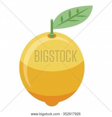 Whole Lemon Icon. Isometric Of Whole Lemon Vector Icon For Web Design Isolated On White Background