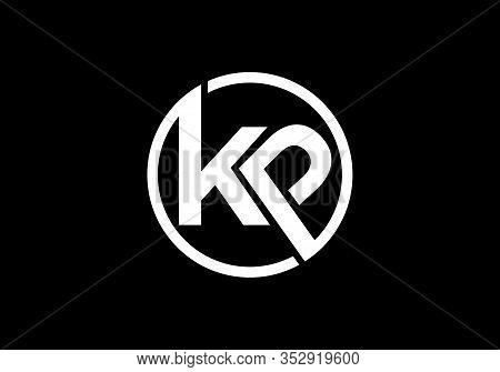 Initial K P Letter Logo Design, Creative Modern Letters Vector Icon Logo Illustration.