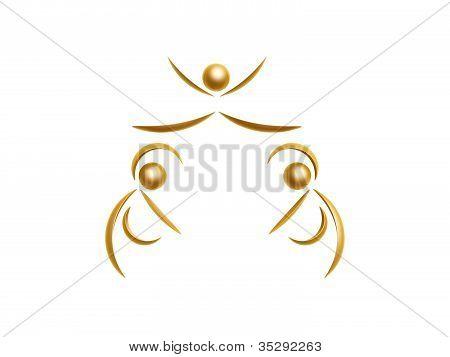 Golden Cheerleaders Symbol