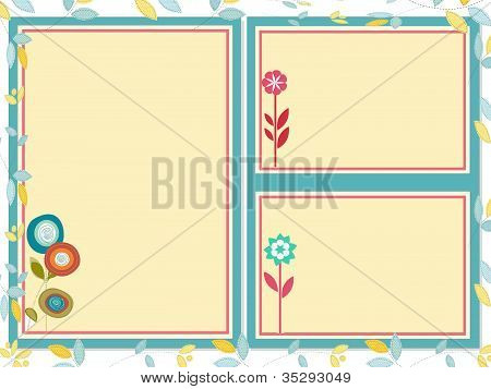 Triple frames with flowers