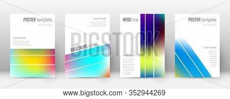Flyer Layout. Geometric Favorable Template For Brochure, Annual Report, Magazine, Poster, Corporate