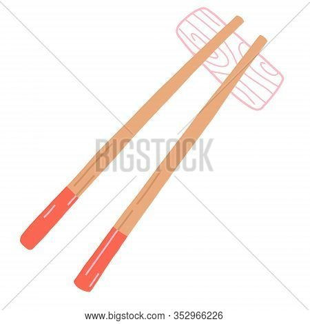 Chopsticks Icon. Trendy Modern Flat Linear Vector Chopsticks Icon On White Background From Thin Line