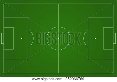 Football Pitch. Green Soccer Field. Vector Illustration