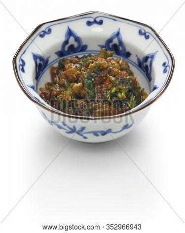 fuki miso, Japanese butterbur shoot stir fried with miso