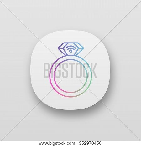 Nfc Ring App Icon. Near Field Communication. Rfid Transponder. Ui Ux User Interface. Web Or Mobile A
