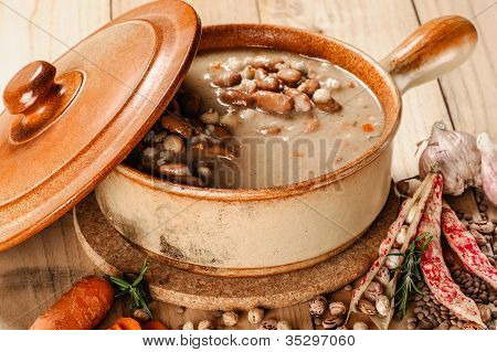 Emmer And Barley Soup With Vegetables - Zuppa Di Legumi