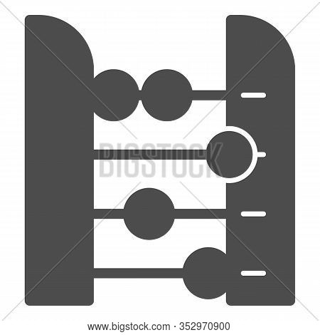 Abacus Solid Icon. Accounting And Arithmetic Tool, Retro Counter. Education Vector Design Concept, G