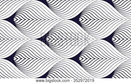 Geometric Seamless Pattern, Abstract Tiling Background, Vector Repeat Endless Wallpaper Illustration