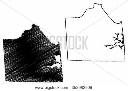 Sussex County, Delaware (u.s. County, United States Of America,usa, U.s., Us) Map Vector Illustratio