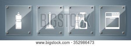 Set Washer , Plastic Bottles For Liquid Dishwashing Liquid, Toilet Plunger And Plastic Bottles For L