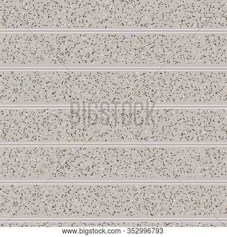 Tiny Confetti Vector Shirting Stripe Texture Background. Ecru Natural Speckled Sprinkles Seamless Pa