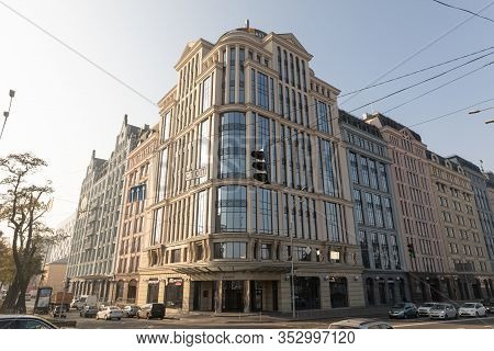Streets And Buildings Of Old Kyiv.